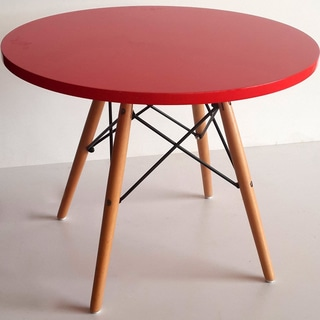 Agnes High-gloss Round Wooden Children Table