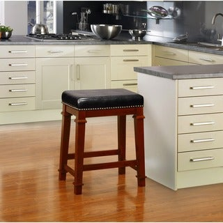 24 Quot Backless Counter High Stool In Genuine Leather