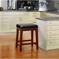Laurel Creek Agatha Black Backless Counter Stool