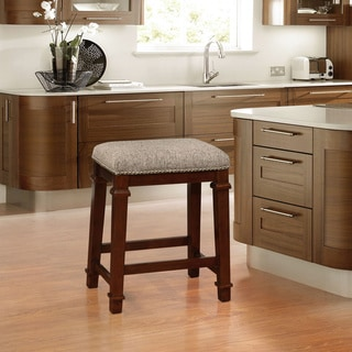 Linon Elle Backless Counter Stool - Tweed