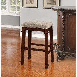 Linon Elle Backless Bar Stool - Tweed
