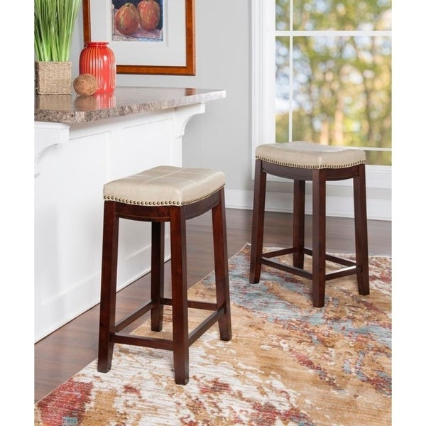 Copper Grove Ghindesti Backless Saddle-seat Counter Stool. Opens flyout.