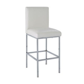 Linon Carrie Counter Stool - White