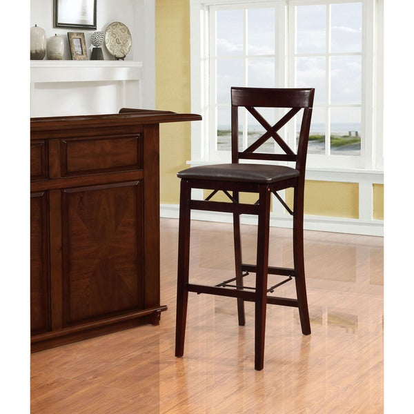 Linon Carla X Back Folding Bar Stool Free Shipping Today