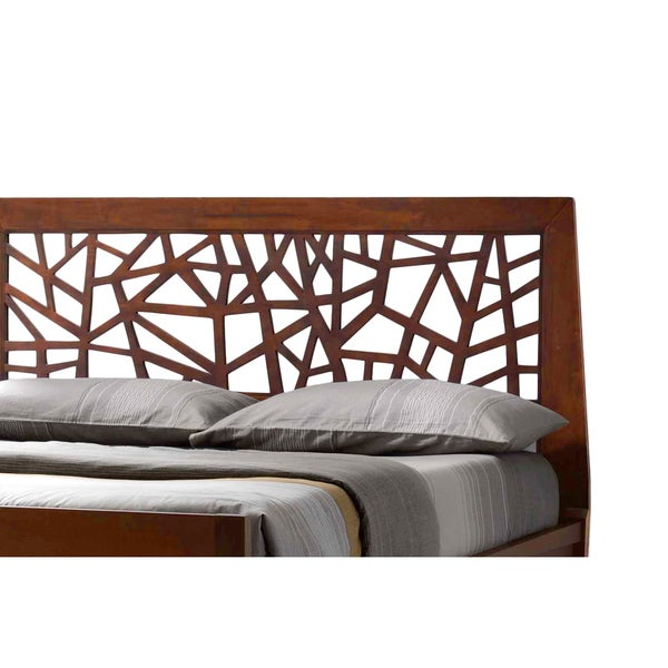 Baxton Studio Jennifer Tree Branch Inspired Modern and Contemporary Walnut  Finishing Solid Wood Platform Base Bed Frame - Free Shipping Today ...