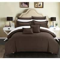 Copper Grove Parkanaur Down Alt Jacquard Brown Striped 7-piece Comforter Set