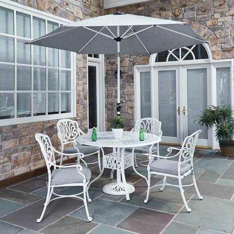 Floral Blossom II 5-piece Dining Set with Arm Chairs by Home Styles