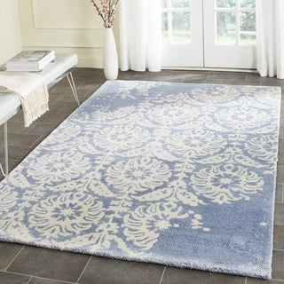 Safavieh Handmade Bella Light Blue/ Ivory Wool Rug (5' Square)