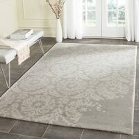 Safavieh Handmade Bella Light Grey/ Ivory Wool Rug - 5' Square