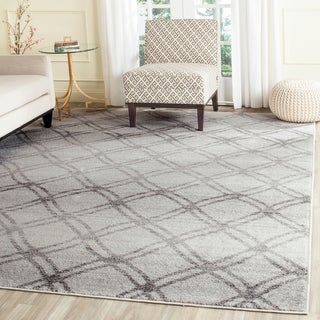Safavieh Adirondack Vintage Lattice Silver/ Charcoal Rug (9' x 12')