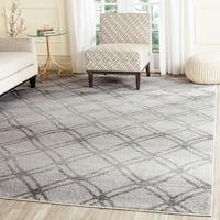 Safavieh Adirondack Vintage Lattice Silver/ Charcoal Rug - 9' x 12'