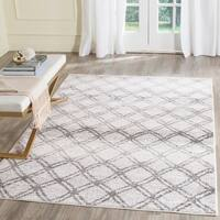 Safavieh Adirondack Vintage Lattice Silver/ Charcoal Rug - 8' x 10'