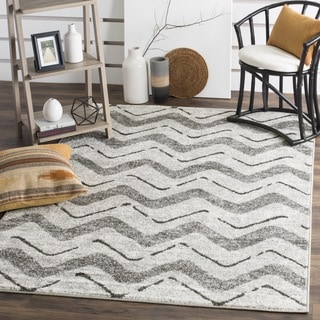 Safavieh Adirondack Modern Silver/ Charcoal Rug (6' Square)