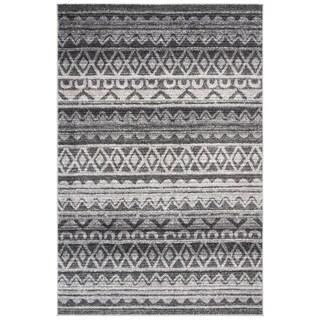Safavieh Adirondack Modern Boho Ivory / Charcoal Rug - 6' Square