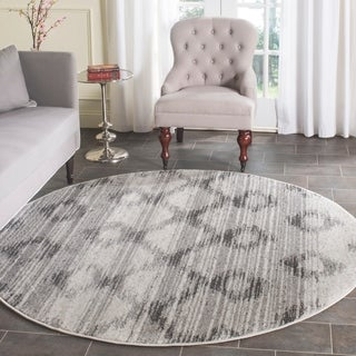 Safavieh Adirondack Silver/ Charcoal Rug (6' Round)