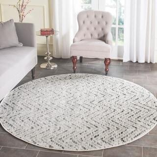 Safavieh Adirondack Modern Ivory/ Charcoal Rug (6' Round)