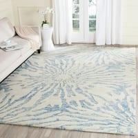 Safavieh Handmade Bella Dark Blue/ Ivory Wool Rug - 6' x 9'