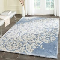 Safavieh Handmade Bella Light Blue/ Ivory Wool Rug - 6' x 9'