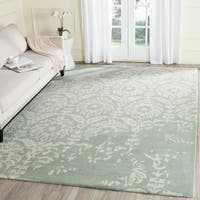 Safavieh Handmade Bella Light Grey/ Ivory Wool Rug (6' x 9')