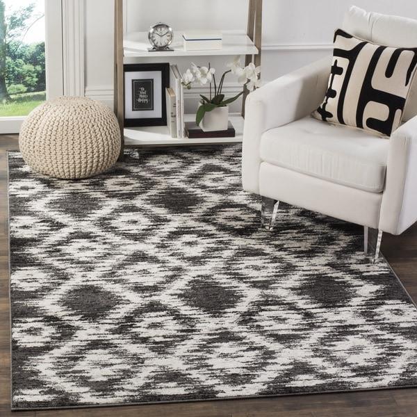 Safavieh Adirondack Modern Charcoal/ Ivory Rug (8' x 10')