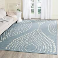 Safavieh Handmade Bella Blue/ Ivory Wool Rug - 8' x 10'