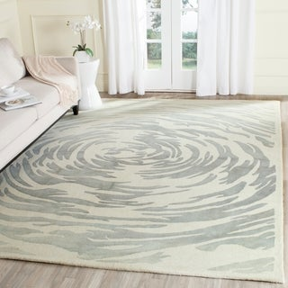 Safavieh Handmade Bella Ivory/ Grey Wool Rug (8' x 10')