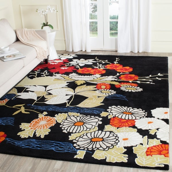 Safavieh Handmade Bella Black/ Multi Wool Rug - 8' x 10'