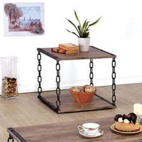 Furniture of America Porteno Industrial Chain Link End Table