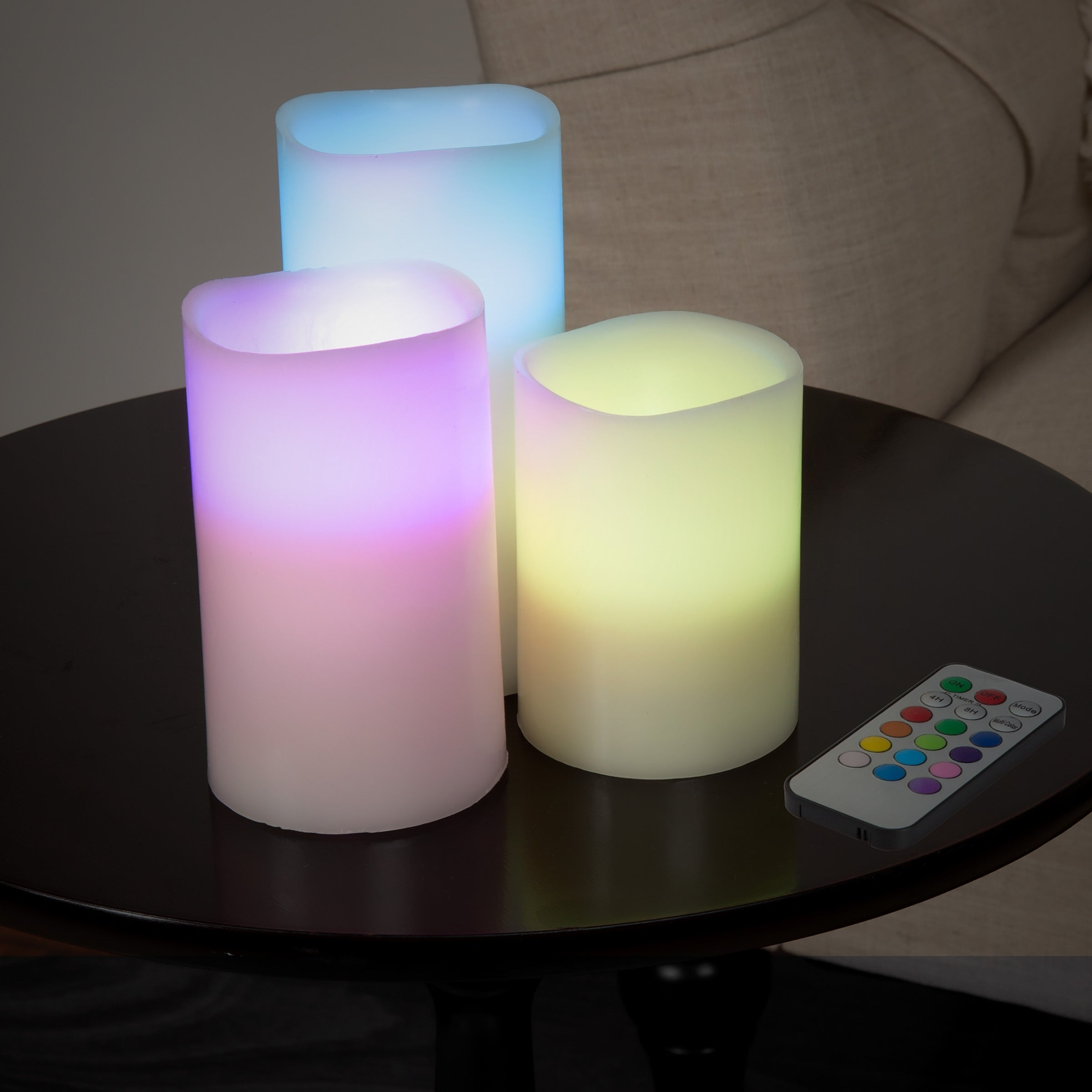 3-piece Flameless LED Candle Set with Remote