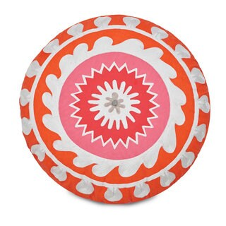 Jill Rosenwald Multi Patch Round Decorative Pillow