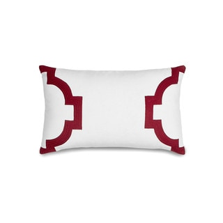 Jill Rosenwald Hampton Links Garnet Throw Pillow