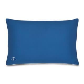 Jill Rosenwald Plimpton Flame Blue Solid Decorative Pillow
