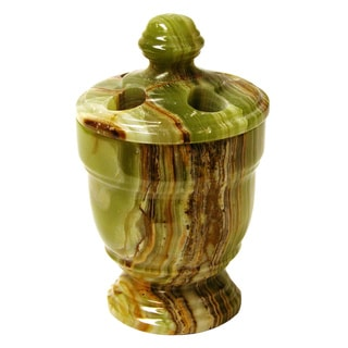 Nature Home Decor Tasmanian Collection Classic Green Onyx Toothbrush Holder