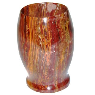 Nature Home Decor Pacific Collection Multi Brown Onyx Tumbler