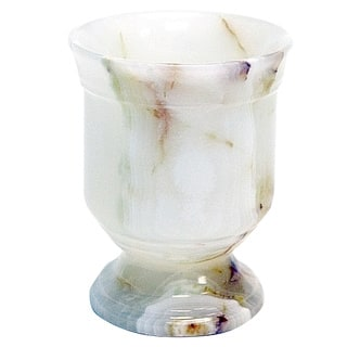 Nature Home Decor Tasmanian Collection White Onyx Tumbler|https://ak1.ostkcdn.com/images/products/10958120/P17983420.jpg?impolicy=medium