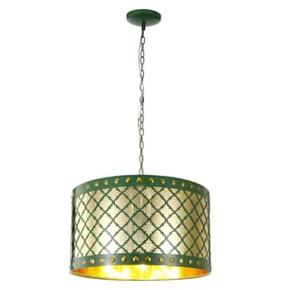Audriana Green Metal Ceiling 1-light Pendant Fixture