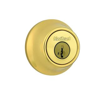 Kwikset 660 Single Cylinder Polished Brass Deadbolt Featuring SmartKey