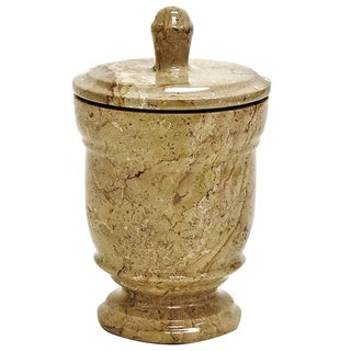 Nature Home Decor Tasmanian Collection Sahara Beige Marble Canister