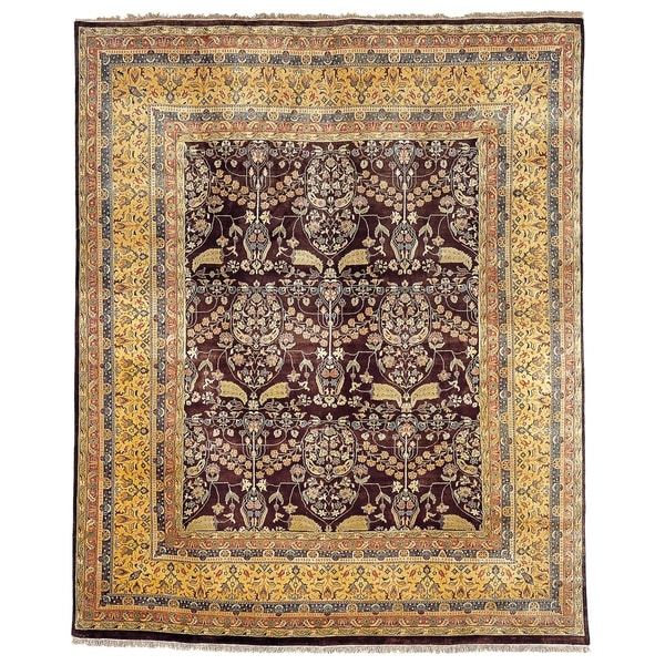 Safavieh Hand-knotted Ganges River Dark Brown/ Gold Wool Rug - 8' x 10'