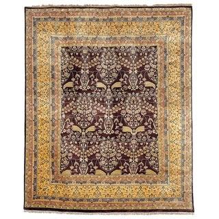Safavieh Hand-knotted Ganges River Dark Brown/ Gold Wool Rug (6' x 9')