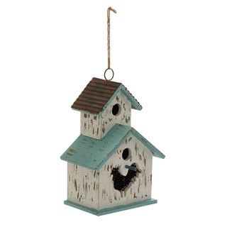 Wood Metal Birdhouse