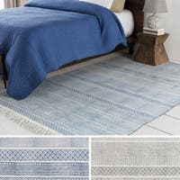 The Curated Nomad Potrero Hand-woven Cotton Geometric Rug - 2' x 3'