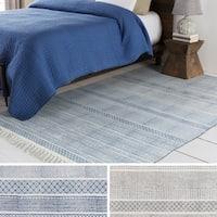 Hand-Woven Charleigh Cotton Area Rug - 8' x 10'
