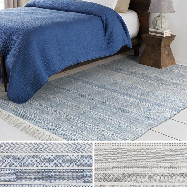 Hand-Woven Charleigh Cotton Area Rug (5' x 7'6)