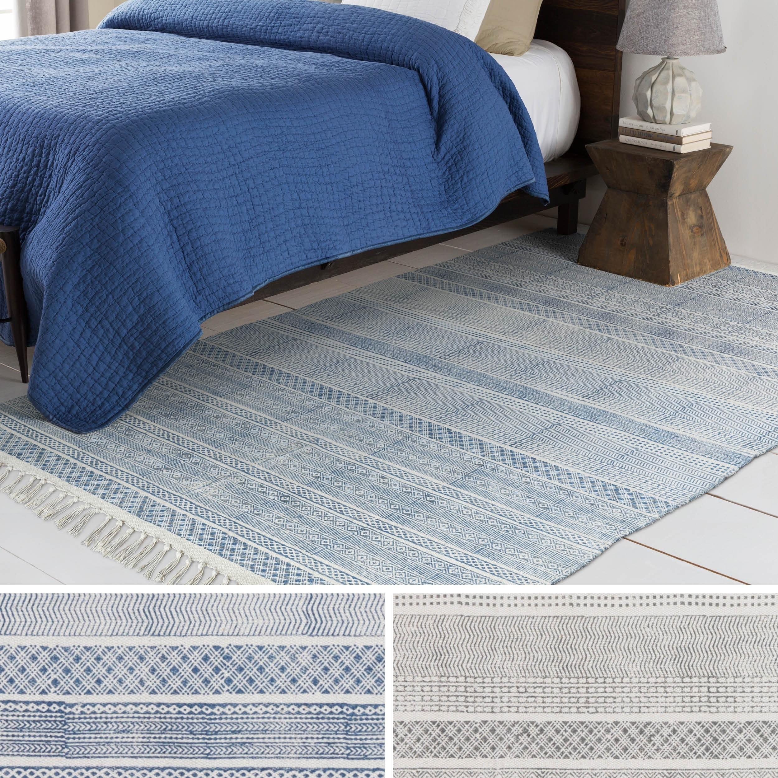 Hand-Woven Charleigh Cotton Area Rug (4' x 6')