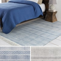 The Curated Nomad Potrero Cotton Hand-woven Area Rug - 4' x 6'