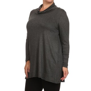MOA Collection Women's Plus Size Long Sleeve Top