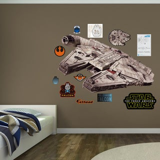 Fathead Millennium Falcon - Star Wars: The Force Awakens Wall Decal