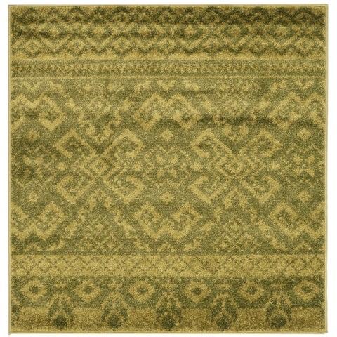 Safavieh Adirondack Dixie Rustic Lodge Green/ Dark Green Rug - 4' x 4' Square