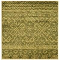 Safavieh Adirondack Southwestern Green/ Dark Green Rug (4' Square)